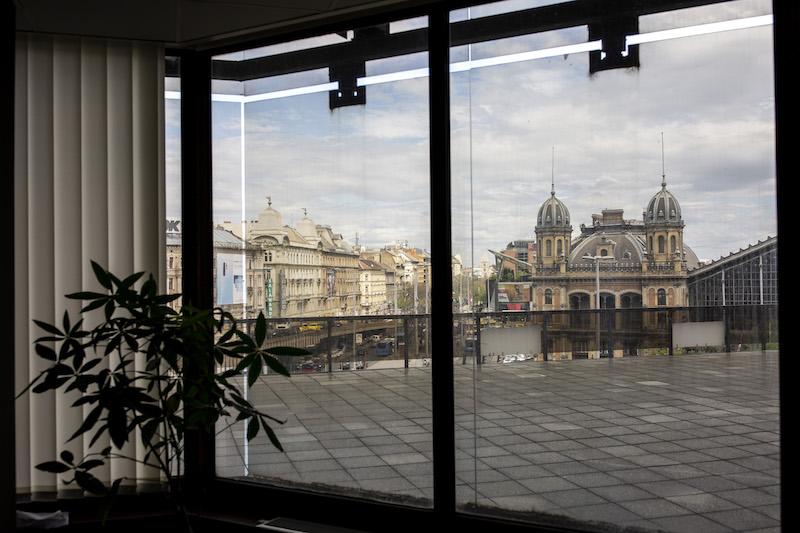 Az Appy irodája a Nyugati téren.