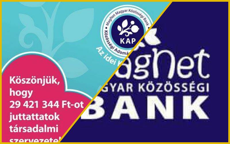 Döntöttek a Magnet Bank ügyfelek: 30 millió forint 56 társadalmi szervezetnek